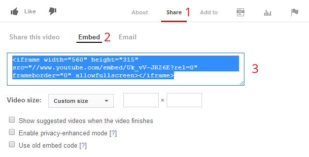 Responsive YouTube videos